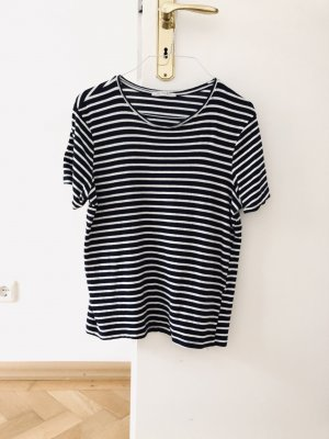 Zara Maglietta a righe blu scuro-bianco