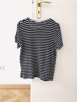 Zara Gestreept shirt donkerblauw-wit