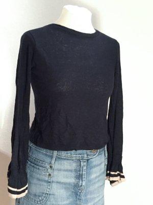 Zara T-shirts en mailles tricotées noir-marron clair