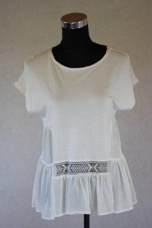 Zara Shirt Volants Transparent Blogger