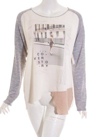 Zara Haut blanc-gris clair style décontracté