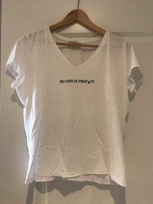 Zara Shirt weiß schwarz