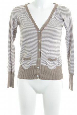 Zara Shirt Jacket camel-white striped pattern casual look
