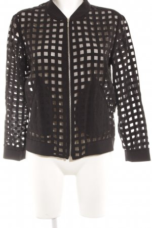 Zara Shirt Jacket black check pattern transparent look