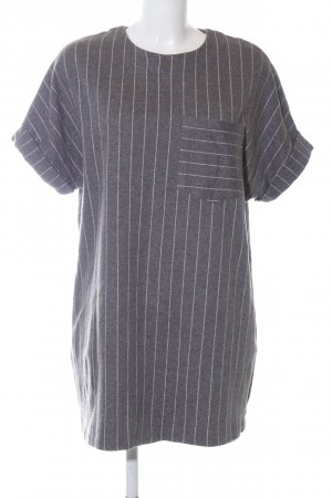 Zara Shirtkleid hellgrau-weiß Streifenmuster Business-Look