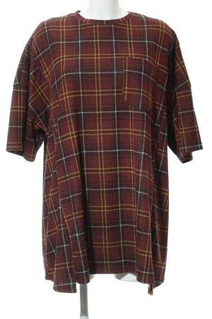 Zara T-shirt jurk geruite print casual uitstraling