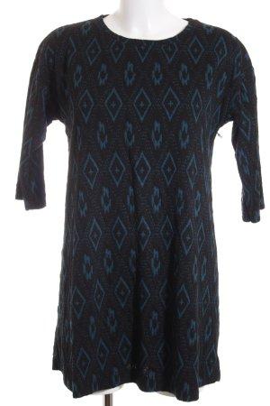 Zara Robe t-shirt noir-bleu pétrole style mode des rues