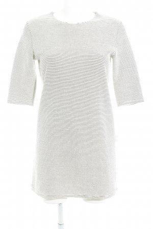 Zara Shirtkleid weiß-schwarz Ringelmuster Casual-Look