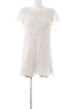 Zara Shirt Dress natural white floral pattern elegant