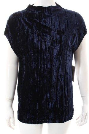 Zara Shirttunika dunkelblau Samt-Optik