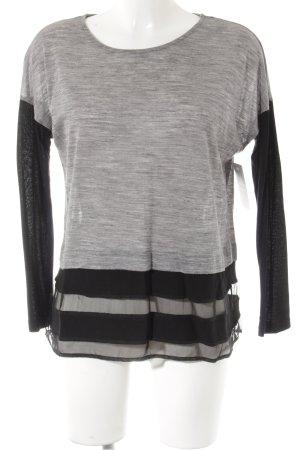 Zara Shirttunika schwarz-grau Casual-Look