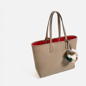 9b7b465f9520b Zara shopper bag tasche nude