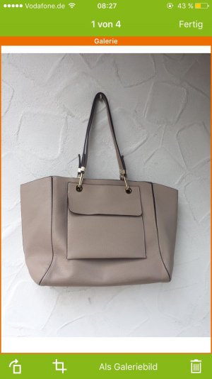 Zara Shopper Nude One size