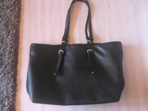 Zara Trafaluc Shopper noir faux cuir