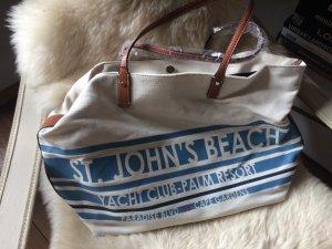 ZARA - Shopper, Strandtasche, Marine, neu, groß - passt alles rein