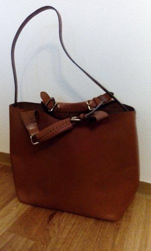 Zara Shopper Tasche Olivia Palermo Cognac Braun
