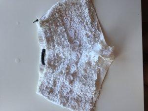 Zara Short moulant blanc