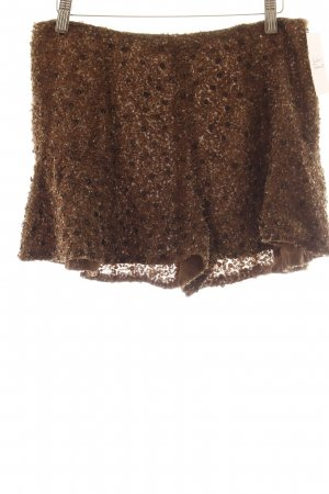 Zara Shorts beige Glitzer-Optik
