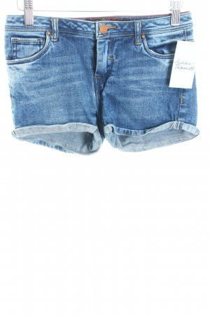 Zara Shorts blau Street-Fashion-Look