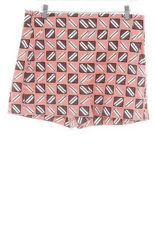Zara Shorts braun-hellrot abstraktes Muster Casual-Look