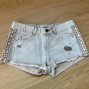 Zara Trafaluc Short en jean multicolore
