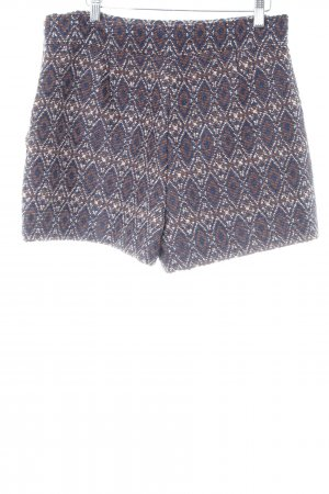 Zara Shorts dunkelblau-braun Ethnomuster Casual-Look