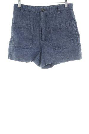 Zara Shorts azul oscuro look casual