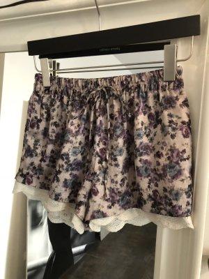 ZARA Shorts für Damen Gr XS Blumenmuster Floral mit Spitze