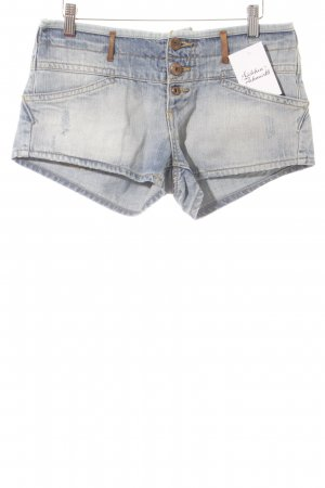 Zara Shorts hellblau Used-Optik