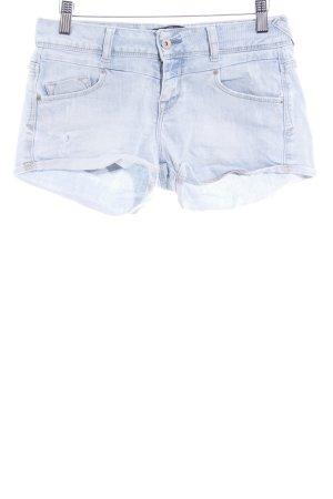 Zara Short bleu azur style décontracté