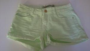 Zara Shorts Hotpants Denim Pastell Neon Grün Jeans 34
