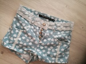 Zara Shorts Hotpants High Waist Demin
