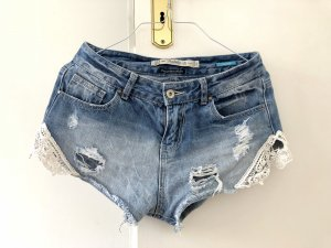 Zara Shorts Jeans 36 S Jeansshorts Spitze