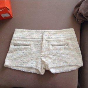 Zara Short moulant blanc-blanc cassé