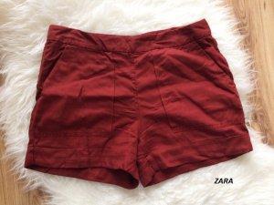 Zara Shorts neu 38 M weinrot bordeaux Frühling Sommer