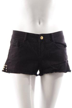 Zara Shorts schwarz mit Nieten