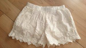 Zara Shorts Spitze Lace Spitzenshorts Offwhite XS