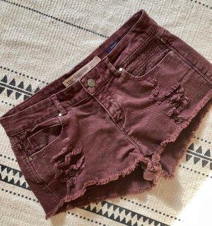 Zara Shorts - Weinrot