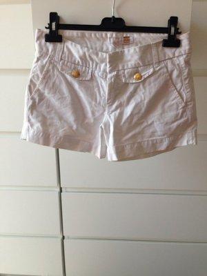 Zara Shorts weiss mit goldenen knöpfen