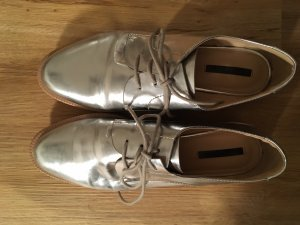 Zara Business Shoes silver-colored