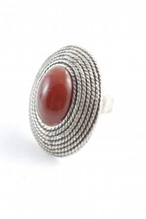 Zara Zilveren ring grijs elegant