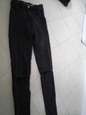 Zara skinny destroyed Jeans Größe 34 schwarz