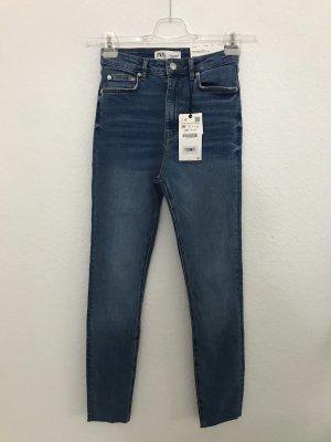 Zara Jeans a vita alta blu-azzurro