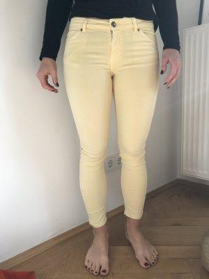 Zara Skinny Hose gelb Jeans Größe 36 / 38