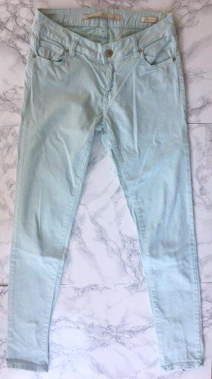 ZARA Skinny Hose in Mintgrün Größe 34