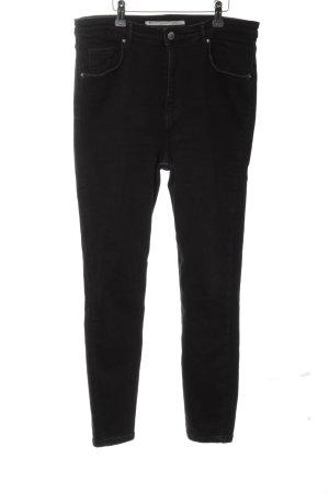 Zara Skinny Jeans schwarz Jeans-Optik