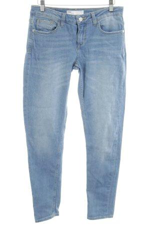 Zara Skinny Jeans neonblau Farbverlauf Casual-Look
