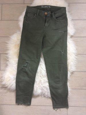 Zara Hoge taille broek groen-grijs-khaki