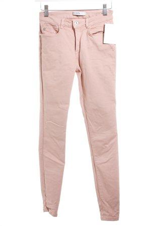 Zara Skinny Jeans altrosa schlichter Stil
