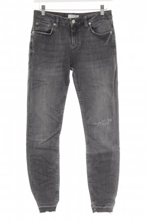 Zara Jeans skinny gris anthracite style décontracté